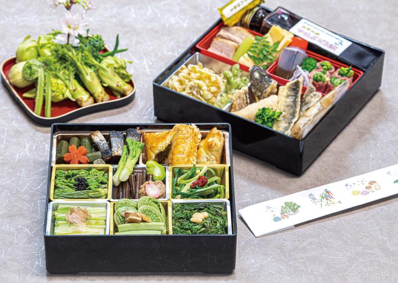 玉貴特製 新緑の山菜重箱