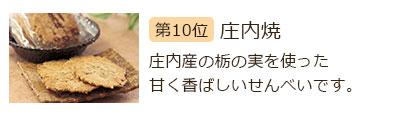 ランキング第10位 庄内焼